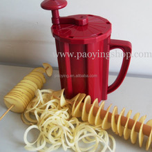 Customized Color Commercial Use Manual Curly Fries Twister Hotdog Spiral Tornado Potato Cutter