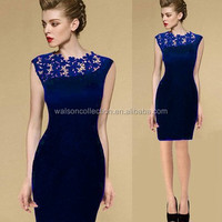 Instyleswomens clothing summer 2015 Stretch Evening Party Casual Lace Slim Bodycon Pencil Dresses Vestidos Crochet fashion dress