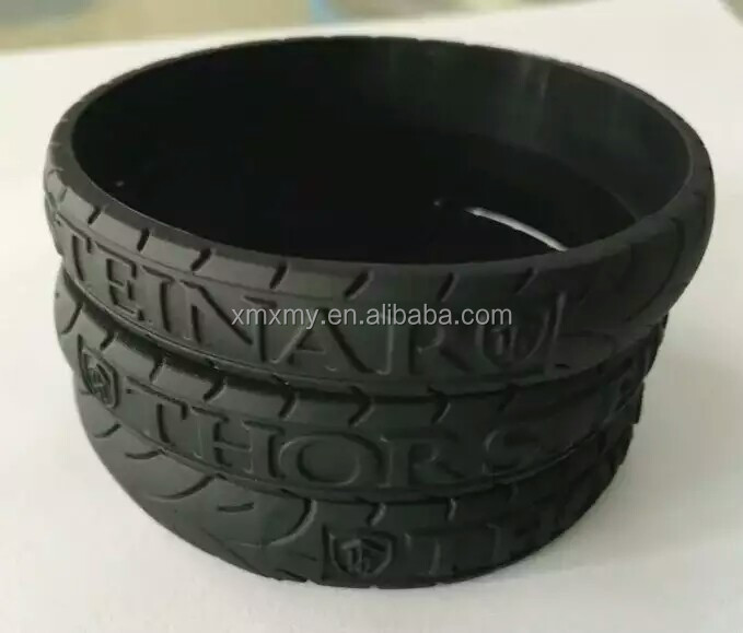 personalized tire silicone rubber bracelet