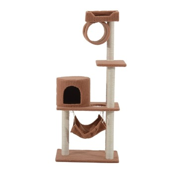 55 Inch Cat Tree Pet Scratching Post Furniture - Coffee