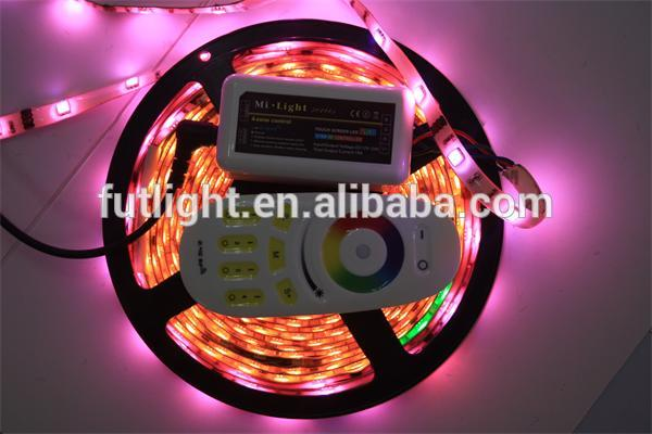 Mi.light Wifi RGBW Led Dimmable samrt lightint lamp 4 zone grouping touch remote led strip controller