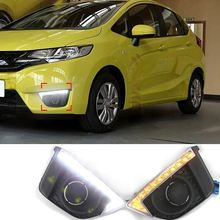 Auto 9 LED Car 12v Car Daytime Running Lights DRL For Honda Fit 2014 2015