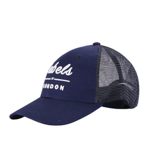 hip quality blue navy new plain 5 panel trucker mesh baseball cap made in china
