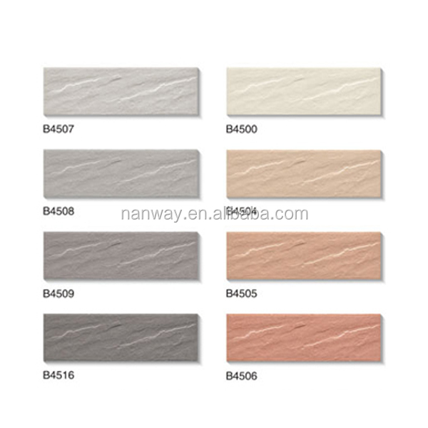 2014 exterior wall tiles designs india 45x145mm