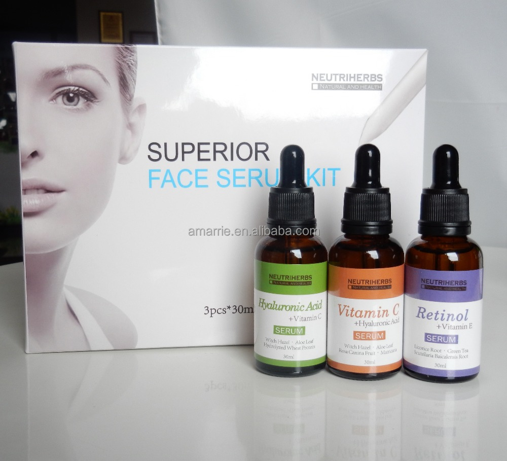 Cosmetic <strong>Manufacturer</strong> Best Whitening Vitamin C Serum 20% Private label Face Whitening Facial kit
