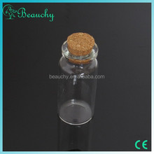 2015 BEAUCHY 10ml clear glass wishing bottle / drift bottle / vials with cork for gift