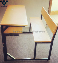 School chair with writing board furniture , surplus school desk and chair set