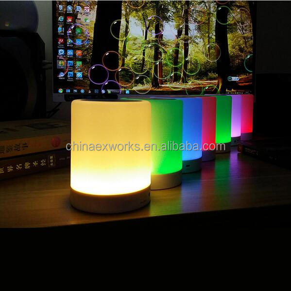 Bluetooth Speaker Outdoor With Led Light New Products 2016 Professional Wireless bluetooth speaker lamp