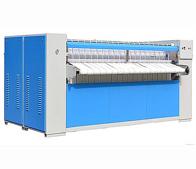 Industrial ironing machine roller heated drying ironer