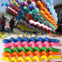 New 50Pcs Giant Latex Rubber Helium Spiral Balloons for Wedding Birthday Party Gift