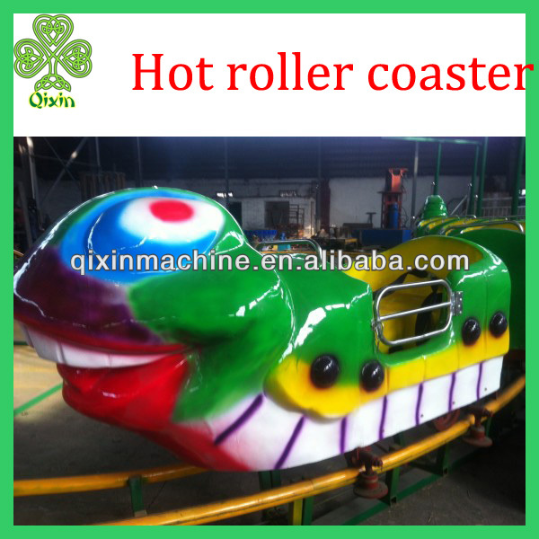 Worm new style small roller coaster for sale in playground