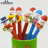 2016 New style Xmas snow man polymer clay pen 100pcs/pack wholesale on line China supplier