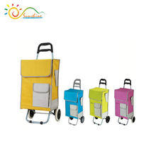 Cheap price folding shopping cart/hand trolley,supermarket shopping trolley bag with wheels