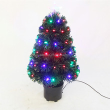Wholesale Cheap 2ft Small LED Fiber Optic Pre-lit Artificial Christmas Tree