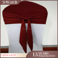 Custom luxel hotel cheap universal wedding spandex chair head covers caps 1.00