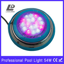 led underwater light 54W RGB high power remote control