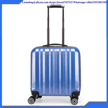 Light Blue Custom Code Lock Type Small Size 16 inchTrolley Luggage Travelling Bags Suitcase Box