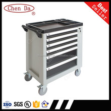 High quality grey/black color 6 Drawers steel tools set box with side door