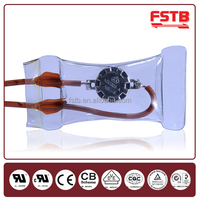Refrigerator Spare Parts Type KSD303 Bimetal Defrost Thermostats 8 Terminal Differential Temperature Controller Reset Switch