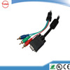 Good feedbac DVI/VGA to RCA cable gold plated with black color