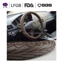 Soft carbon steering wheel cover/High quality Silicone steering wheel covers