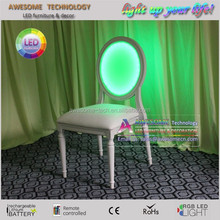 led lighting up hotel stacking ghost chair for sale