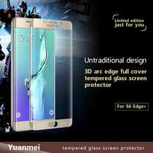 9H 3D Curved Tempered Glass Screen Protector for Samsung Galaxy S6 Edge