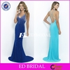 Hot Sexy Deep V Neck Backless Mermaid Shine Heavy Beaded Evening Dress 2015