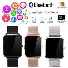 New Bluetooth SmartWatch 2019 GSM Sim Card Stainless Steel <strong>Smart</strong> <strong>Watch</strong> Z60 For IOS Android New