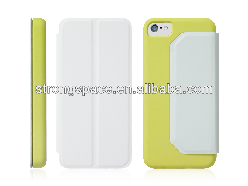 leather flip case cover for apple iphone 5c from competitive China supplier
