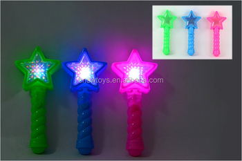 shining toy 3D star shape light wand with sound