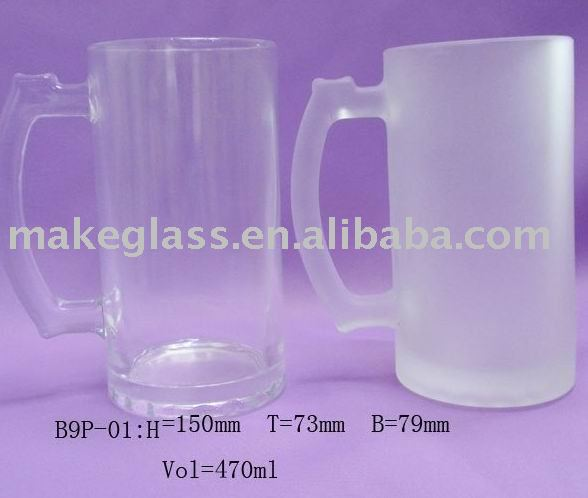 clear&frosted beer glass mug