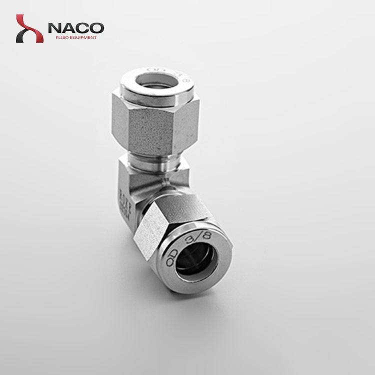 1/2 Stainless Steel 90 Degree Elbow Compression Union Connector