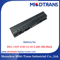 Top Rechargeable Laptop Battery Supplier for DELL 1537 1535 11.1V 5.2Ah 58h Black