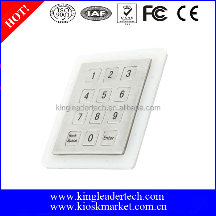 USB metal numeric keypad with 12 flat keys