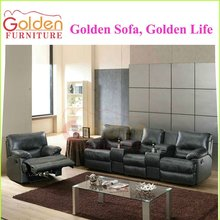 modern genuine leather recliner sofa set living room furniture