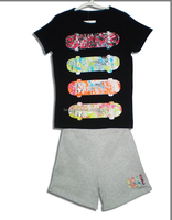 2016 New Hot Selling Children Kids Pajamas Sleepwear Jersey Loveyour selfy style
