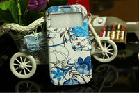 Beautiful natural flowers Single window wallet style mobile phone case for samsung galaxy Note2 N7100