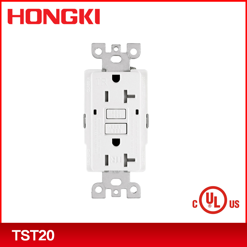 new UL CUL 120V gfci wall outlet socket receptacle with the function of detecting the life end time autonmatically
