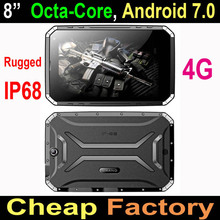 2017 Cheapest IP68 Rugged Tablet, android octa-core 8 inch 4g rugged tablet pc with barcode scanner UHF RFID NFC OTG