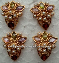 Indian jewelry polki earrings, kundan earrings high quality