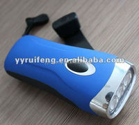 Hand shake 3 led dynamo flashlight torch rechargeable high power flashlight torch