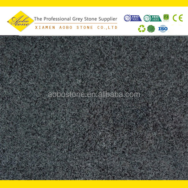 G654 dark grey color crushed granite stone tile