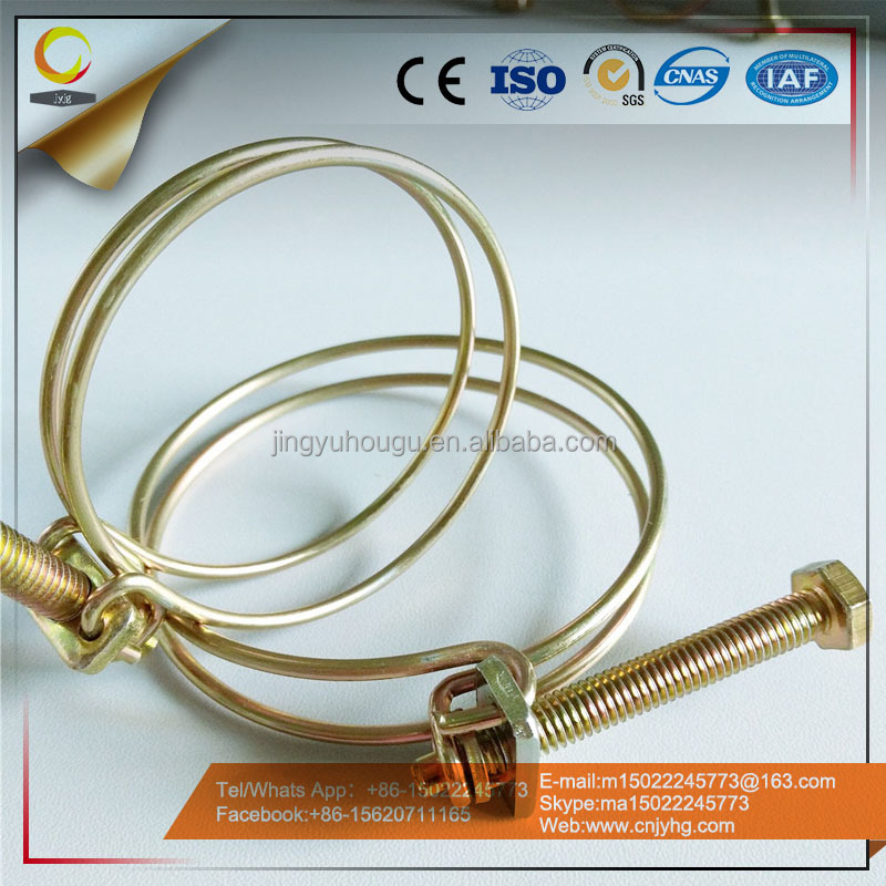 China Supplier Metal Double Wire Hose Clamp Spring Clips With High Quality Low Price