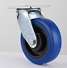 100mm swivel heavy duty castor blue pu casters and wheels