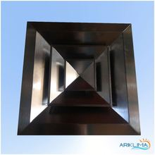 Stainless steel ss diffuser factory directly hvac air conditioning steel registers for hvac 4WD-S1