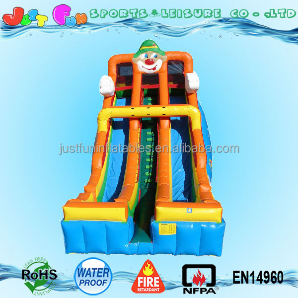 Giant inflatable clown children christmas themed slide for party rental