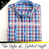 Wholesale top quality plaid light color weight of cotton bangkok men shirt