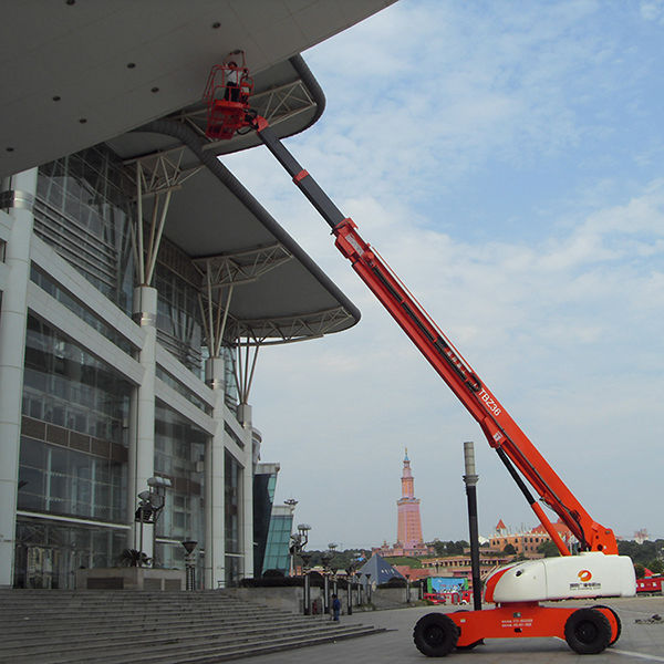 Construction Boom Lift Hydraulic : Self propelled hydraulic telescopic boom lift buy