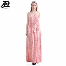Summer Sexy Ladies Floral Print Maxi Beach Dress